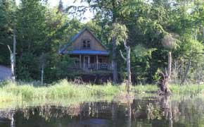 chalet Intime vue du lac