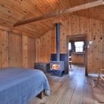bedroom - woodstove
