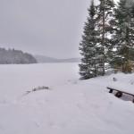 vue du Lac Berval - pêche sur glace