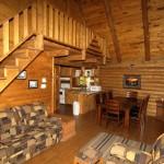 chalet bois intérieur